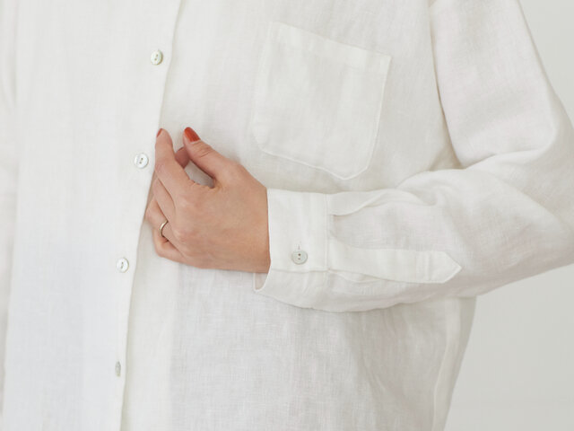 heavenly|リネン ロングワイドシャツ