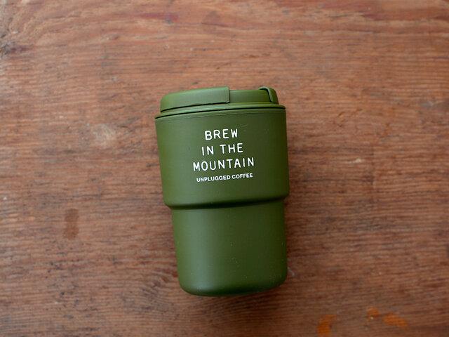「BREW IN THE MOUNTAIN」のメッセージプリント。