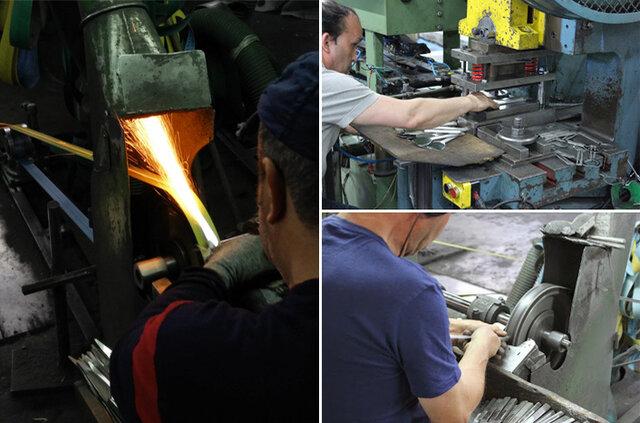 クチポールでは今でも曲線の美しさや、理想のカーブを表現するために、多くの工程を人の手で行っています。  特徴[1] オリジナリティ デザインから仕上げまでポルトガルの自社工場で行っているだけでなく、製造のための機械や道具も自社で作っています。 クチポールのオリジナリティへのこだわりは徹底しています。  特徴[2] 手作業へのこだわり どの工程でも職人が一本一本手にとって作っています。 手作業だからこそ、繊細なカーブやフォークの長い歯など、マシンメイドではできないユニークで洗練されたデザインのカトラリーができるのです。  特徴[3] 誇りの刻印 こうしてできるカトラリーは、その一本一本がクチポールの誇りです。 その誇りを記すために、製造の最後の工程でCutipolと刻印が捺されます。もちろん、この刻印も一本一本手作業です。