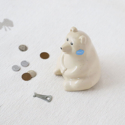 PLASTEP|シロクマ貯金箱