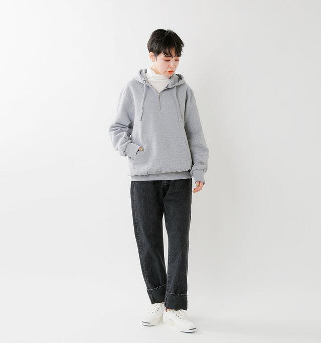 model saku:163cm / 43kg  color : cenere / size : M