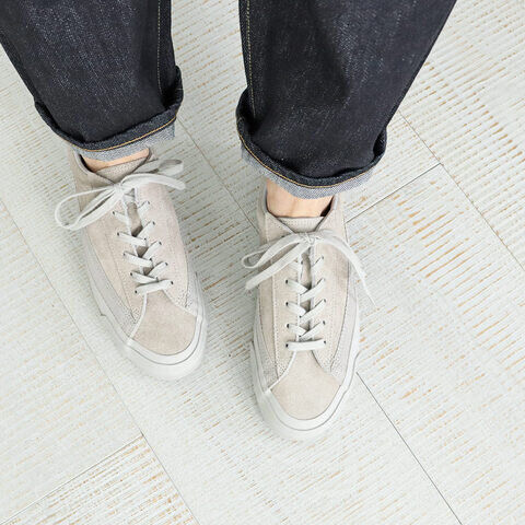 ASAHI|BELTED LOW SUEDE -GRAY GRAY