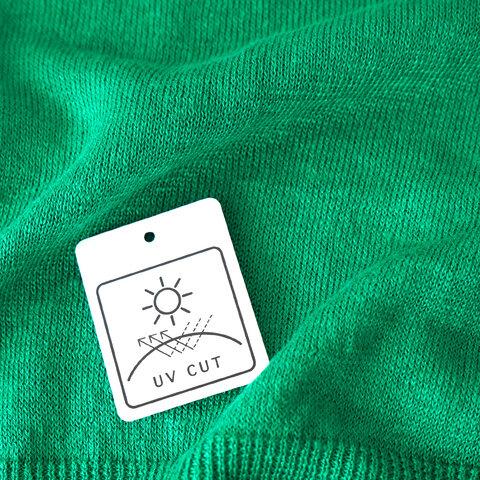 mao made UVカット リネン クルーネック カーディガン 紫外線対策 日焼け対策 111115 マオメイド