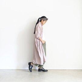 ichi Antiquites|Color Linen Shirt Dress