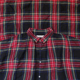 ichi Antiquités|Linen Tartan Shirt Dress