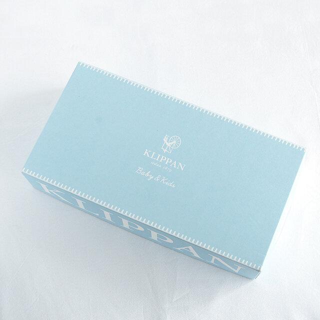 クリッパンブランケットのミニサイズ専用ボックスです。 白いリボンで仕上げます。 ★KLIPPANの他の商品や、KLIPPANブランド以外の商品にはご利用いただけません。