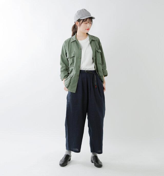 model kanae:167cm / 48kg color : olive / size : S