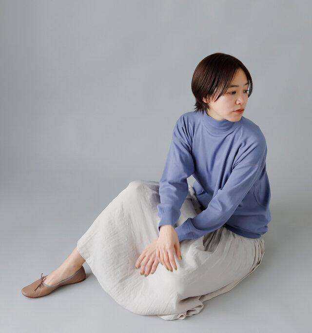 model:163cm / 43kg color :  french blue/ size : 40