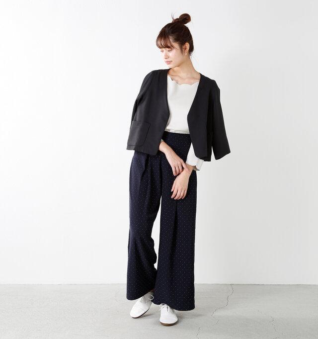 model kanae:167cm / 48kg color : white / size : L