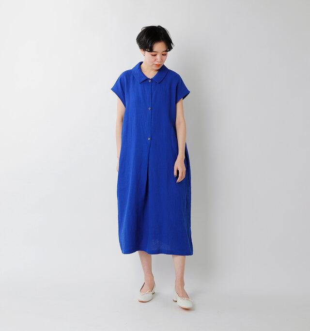 model saku:163cm / 43kg  color : blue / size : F