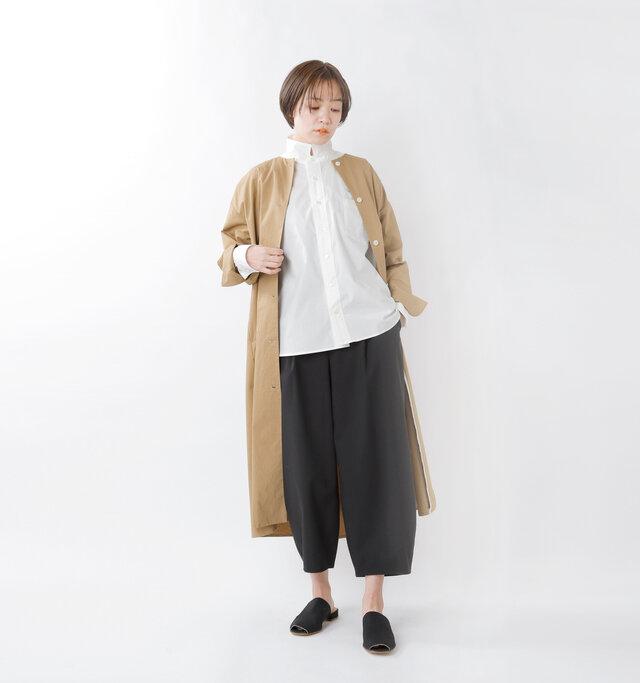 model saku:163cm / 43kg  color : white / size : 2