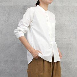 HUIS|やわらかコットンバンドカラーコットンシャツ【ユニセックス】