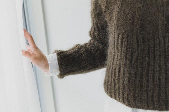 ふわふわなモヘヤは選ぶ色で印象が変わるので、色違いで編んでも楽しいですよ。