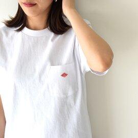 DANTON|クルーネック ポケット ロゴTシャツ ボーダー Tシャツ jd-9041 ダントン
