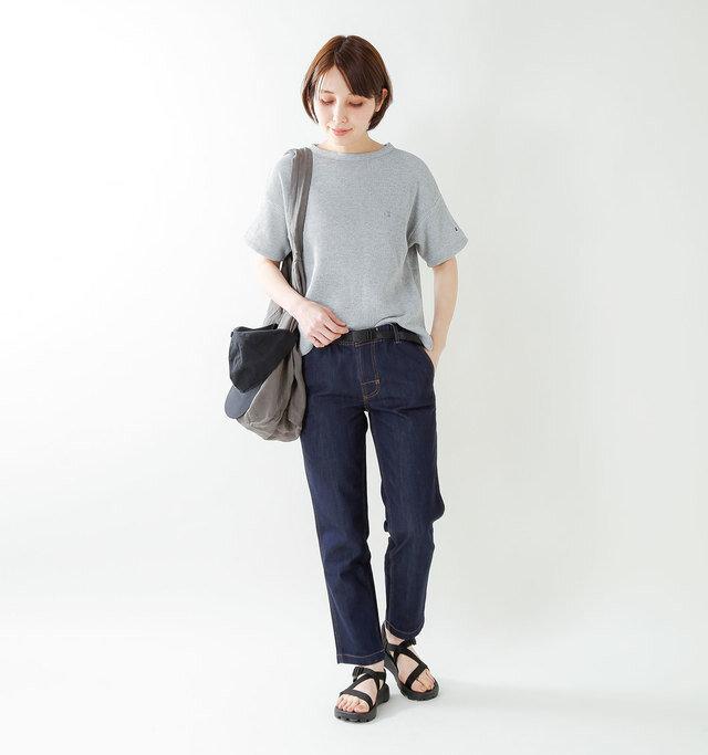 model yama:167cm / 49kg color : oxford gray / size : M