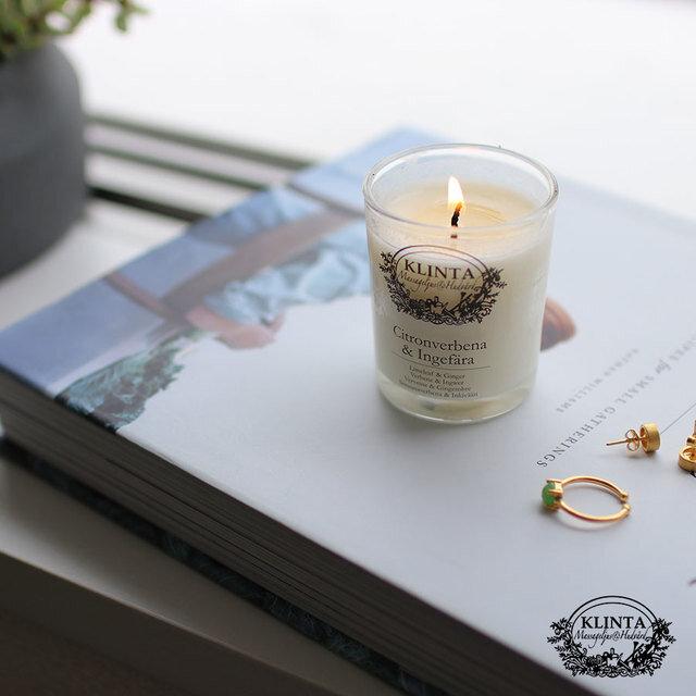 スウェーデンの自然をイメージした優しい香りのキャンドルは オーガニックなだけではなく、マッサージオイルとして肌を保湿してくれる優れもの。