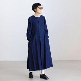 BLUE BLUE JAPAN|インディゴ フランネル ウエストマーク シャツワンピース