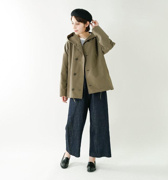 model yama:167cm / 49kg color : olive / size : F