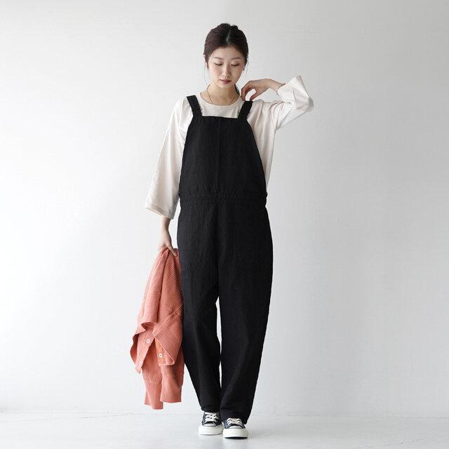 モデル: 166cm / 47kg color:black / size:36(M/ワンサイズ)