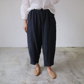 YARRA リネン裾ダーツ8分パンツ YR-211-017