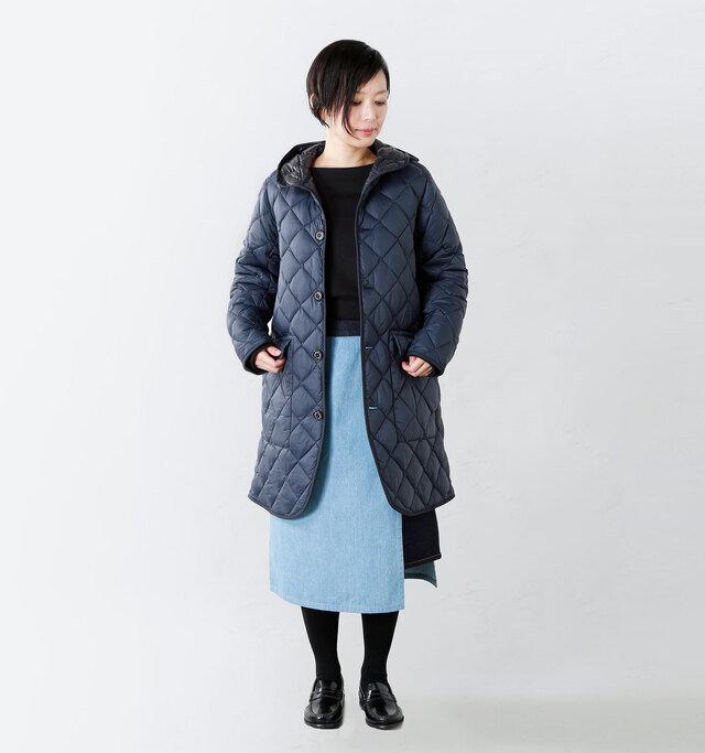 model mayu:158cm / 48kg color : navy / size : 12