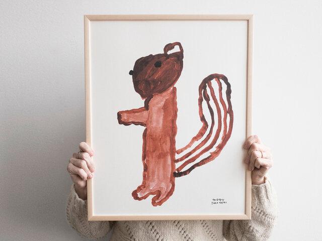 Fine Little Day|ポスター SQUIRREL(リス)40×50cm
