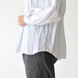 manon|AMICAL DRESS SHIRT レギュラーカラーワイドシルエットギャザーシャツ・MNN-SH-082 マノン