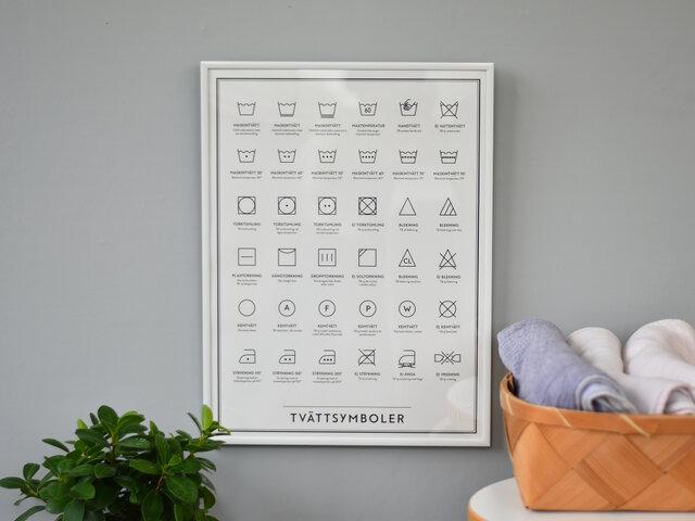 バランスよく整列されたデザインなので、スッキリ清潔感がありますね。洗面所に飾ってみるのもおもしろいかもしれません。モノクロでキリッと空間を引き締めてくれそうです。