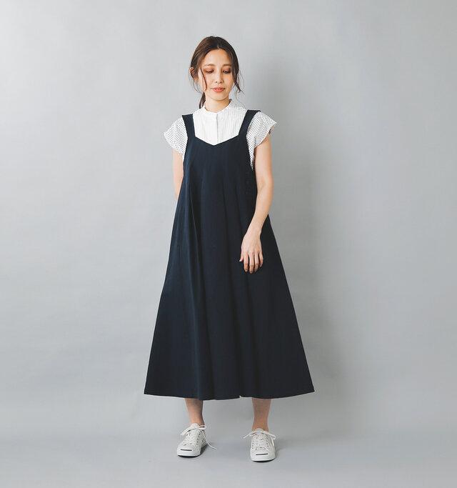 model:167cm / 49kg color : navy / size : 1