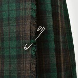 O'NEIL OF DUBLIN aranciato別注 ウールプリーツ巻きスカート 5059wp-fn
