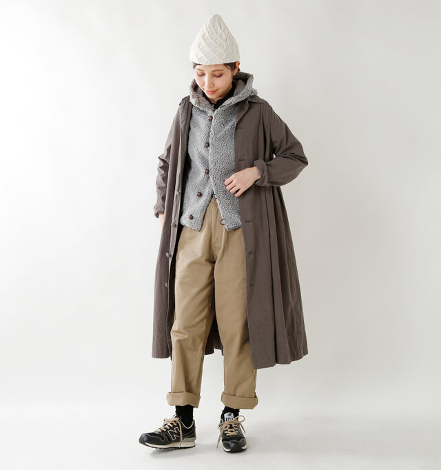 model yama:167cm / 49kg color : heather gray / size : 14
