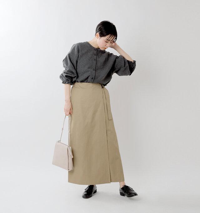model saku:163cm / 43kg  color : charcoal / size : 38