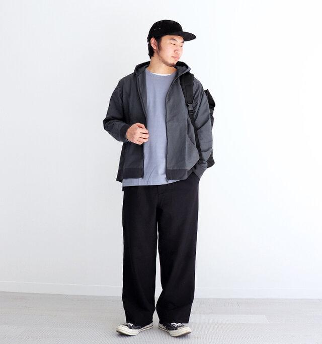 インクブラック / 3 着用、モデル身長:174cm、体重:70kg