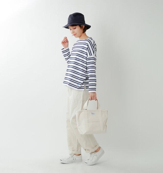 model yama:167cm / 49kg color : 2st white×marine / size : 1