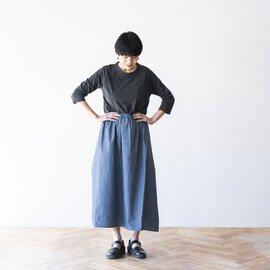 homspun|ライトオンスシャンブレー ギャザースカート