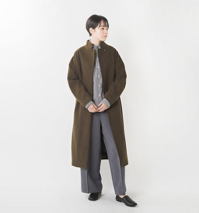 model saku:163cm / 43kg color : brown / size : F