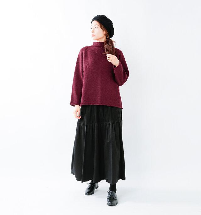 model mizuki:168cm / 50kg color : bordeaux / size : F