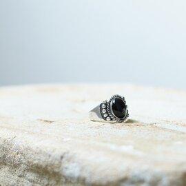 ReFaire|テン ポインテッド オニキス リング Ten Pointed Onyx Ring メンズライク パワーストーン 指輪 黒瑪瑙 アクセサリー RC-RG008 ルフェール
