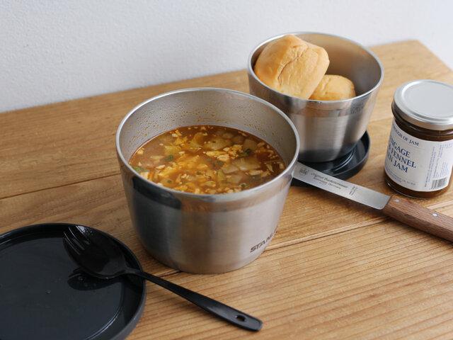 毎日のお弁当で温かいスープもいただけたら、気持ちもほっこりしてうれしいですよね。このフタ付きボウルなら、あなたのお弁当ライフがもっともっと楽しいものになりそう♪