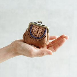 Yammart|カウレザーステッチがま口コインケース coin-case-01-02-03
