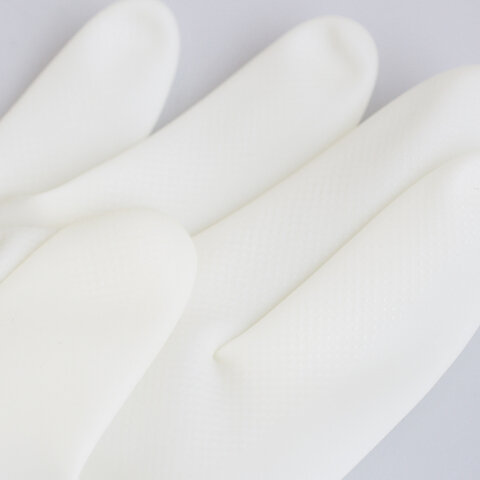 VOIRY RUBBER GLOVES-D CLEAR RED