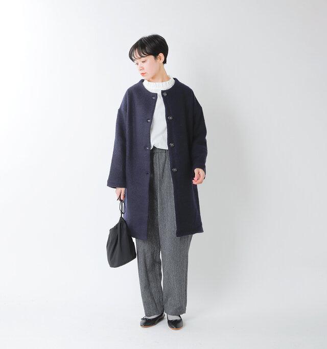 model saku:163cm / 43kg color : navy / size : F