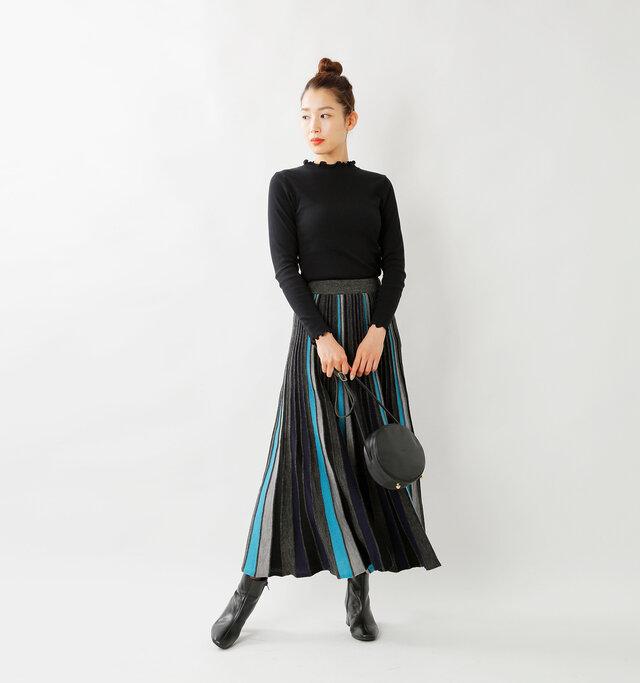 model mizuki:168cm / 50kg  color : black / size : F