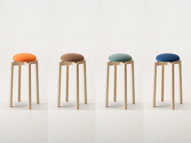 SH:500mm カラー(左から):オレンジ、ブラウン、モスグリーン、ブルー