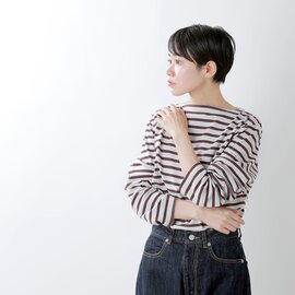 ORCIVAL│コットン100%長袖バスクシャツ b211-yh