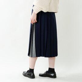 O'NEIL OF DUBLIN aranciato別注 ウールプリーツ巻きスカート 5073cwp-rf