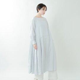 "Gauze# リネンシルクワンピースドレス""O'KEEFFE"" g588-rf【21ss】"