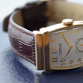 CIRCA│レザーベルト×ゴールドケース腕時計 ct109t-tr
