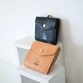 IL BISONTE|50周年 記念モデル 日本限定 手書き風 イラスト スクエア型 スナップボタン がま口 2つ折り ウォレット 財布 54202-3-06440 イルビゾンテ