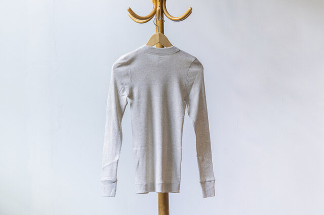 homspun 40/1丸胴テレコ 長袖プルオーバー